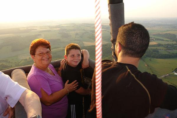 en famille en montgolfière