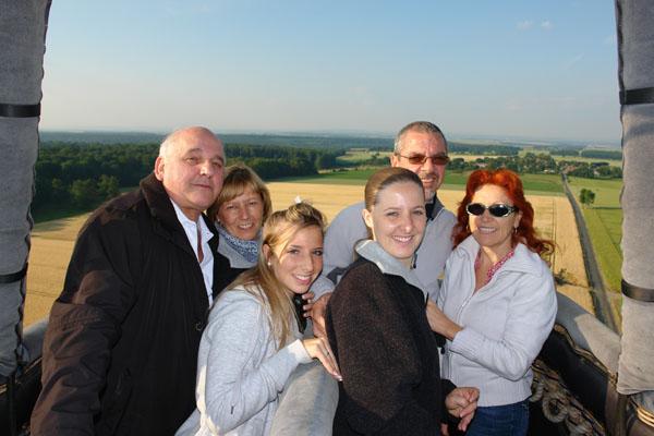 vol en montgolfière en famille