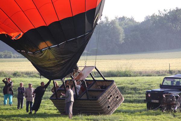 Chauffe de la montgolfière