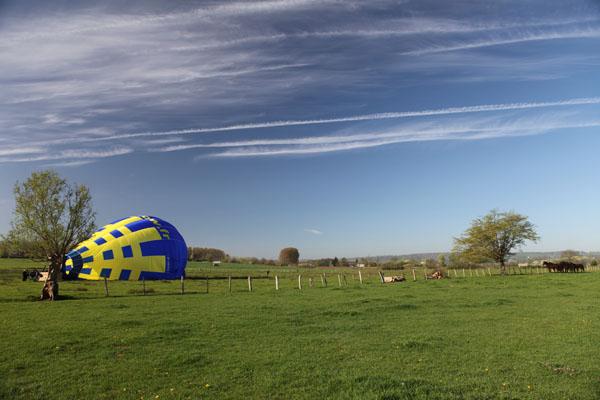 Dégonflage du ballon