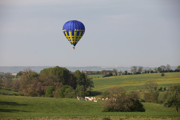 8 h 29 montgolfière Baptemes de l'air
