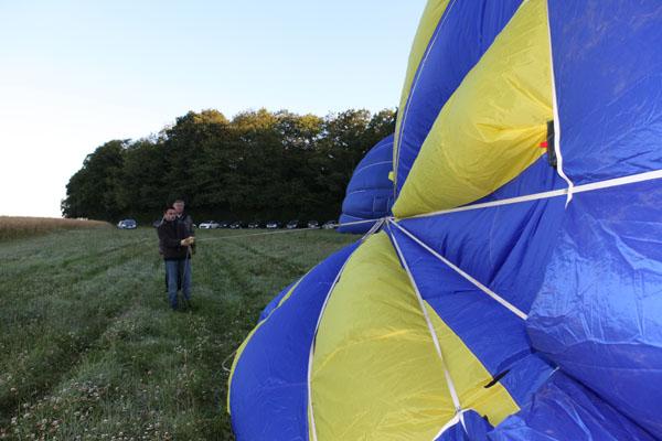 Gonflage des montgolfières