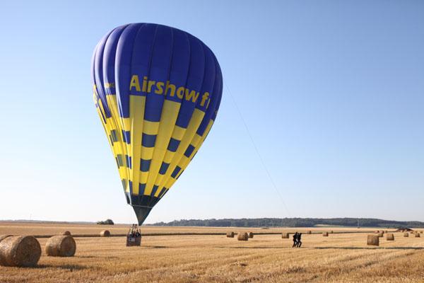 Atterrissage du premier ballon