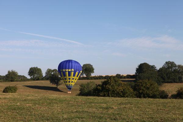 Atterrissage de la montgolfière de Maria