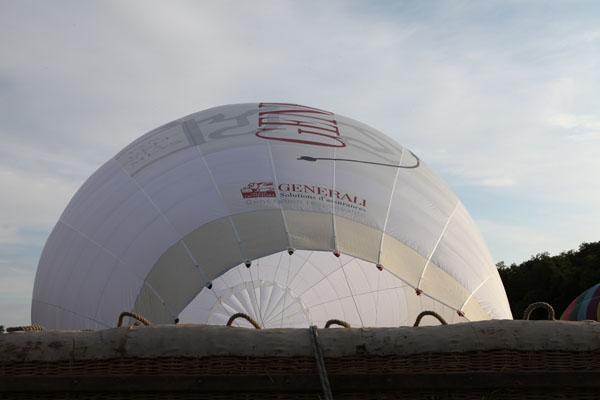 Gonflage du ballon Générali