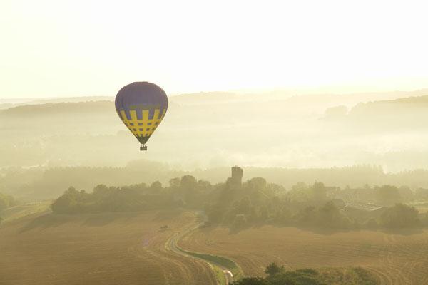 Survol en montgolfière de Château sur Epte