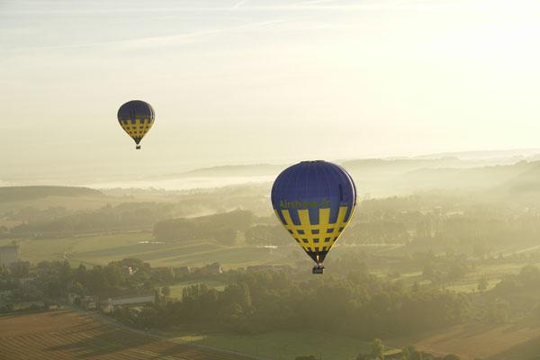 les ballons survolent la Vallée de l'Epte