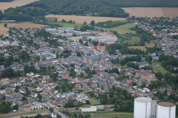 Survol en montgolfière d'Etrépagny (Eure)