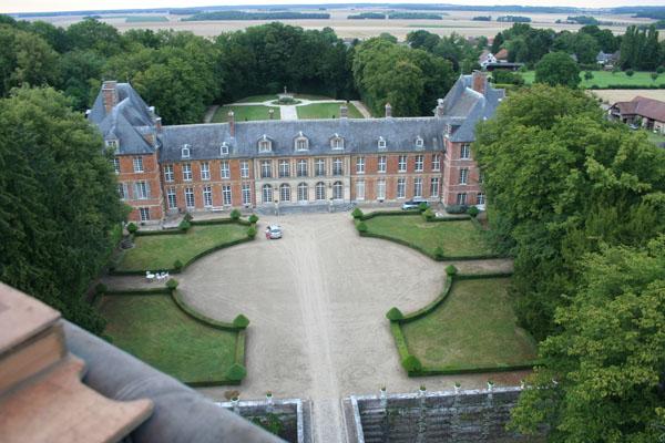 Survol en montgolfière du Château de Heudicourt (Eure)