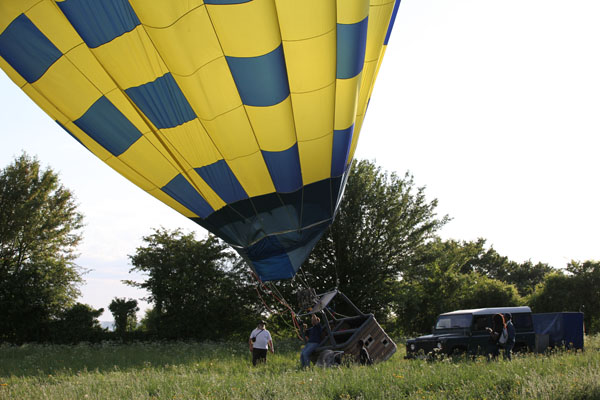 Bapteme en montgolfière
