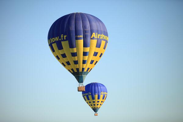 Perspective de montgolfières