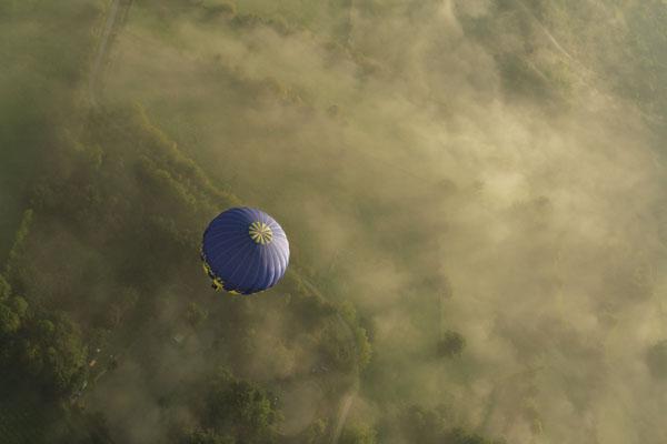 Décollage des montgolfières. Blacourt Oise